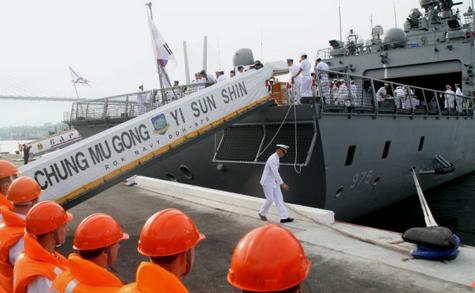 Chiến hạm Hàn Quốc thăm Hạm đội Thái Bình Dương Nga