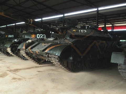 xe tang t-55m3 nang cap cua viet nam