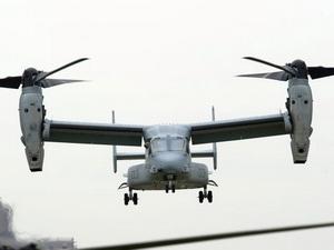 Mỹ sẽ triển khai máy bay Osprey ở Nhật từ tháng 11