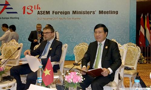 Tin tức tình hình Biển Đông trưa 24-11-2017: Việt Nam kêu gọi  bảo đảm tự do Đông Á ở diễn đàn hợp tác Á - Âu ASEM