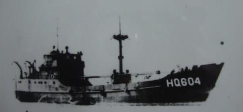 tau hq 604 - con tau da bi trung quoc ban chim ngay 14-3-1988