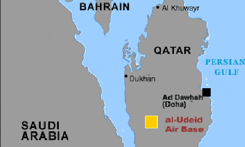 can cu al-udeid o qatar. do hoa: military.