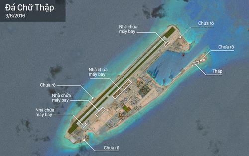 Tin tức tình hình Biển Đông 19-05-2017: Trung Quốc ngang nhiên lắp đặt hệ thống bệ phóng Rocket trên đá Chữ Thập thuộc quần đảo Trường Sa mà họ chiếm giữ trái phép của Việt Nam