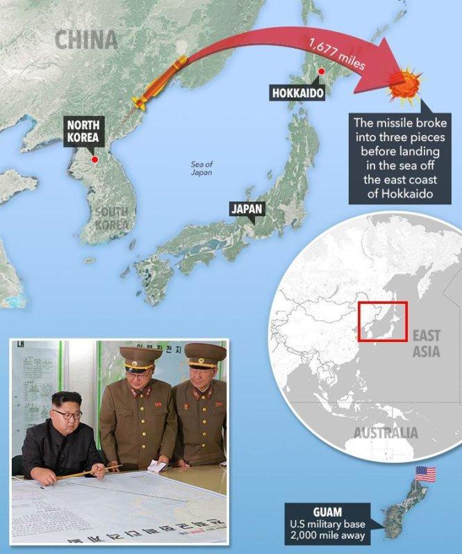 Tình hình căng thẳng trên bán đảo Triều Tiên 31-08-2017: