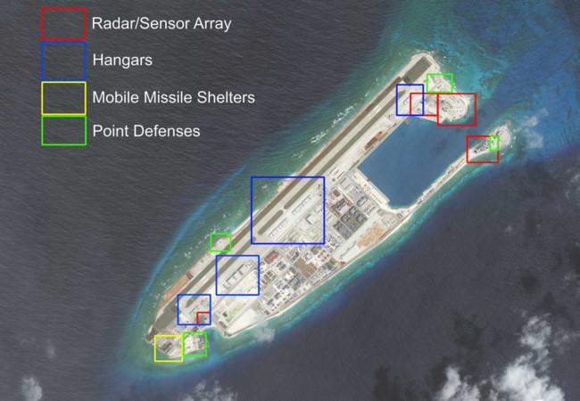 """Lầu Năm Góc lại """"rung chuông"""" báo động về đảo nhân tạo ở Biển Đông"""