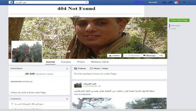 mot trang facebook dang tai hinh anh ve tan cong khung bo o tunisia - anh chup lai man hinh