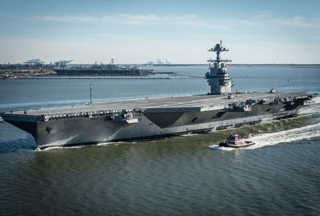 tau san bay dong co hat nhan the he moi uss gerald ford my. anh: the financial express.
