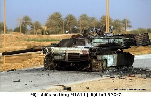 Chiếc M1A1 bị tiêu diệt bởi B-41