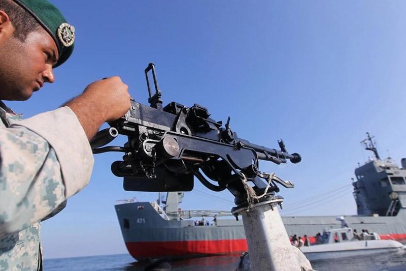 Binh sĩ Iran trong một cuộc tập trận hải quân. Ảnh: AFP