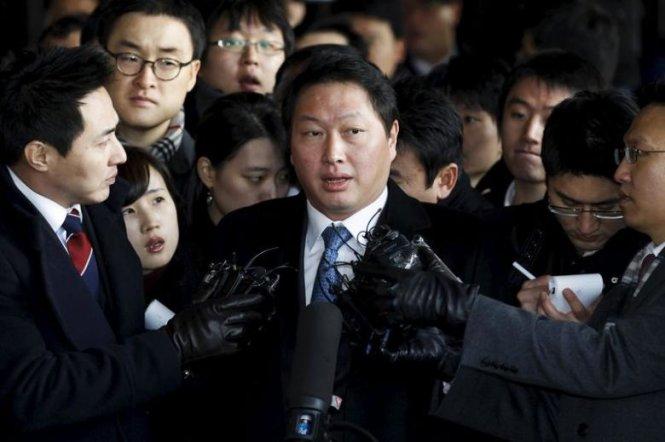 chu tich tap doan sk chey tae won - anh: reuters