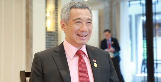thu tuong singapore ly hien long. anh: pmo