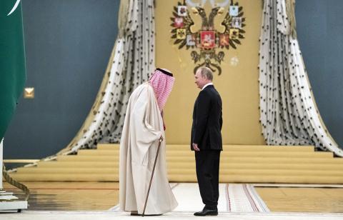 quoc vuong a-rap saudi va tong thong nga tai dien kremlin. anh: tass