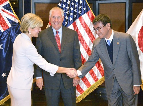 Mỹ - Úc - Nhật kêu gọi ngừng các hành động cưỡng chế trên Biển Đông