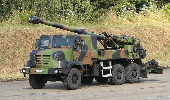 Quân đội Việt Nam sắp được trang bị hệ thống pháo tự hành bánh lốp Ceasar của Pháp