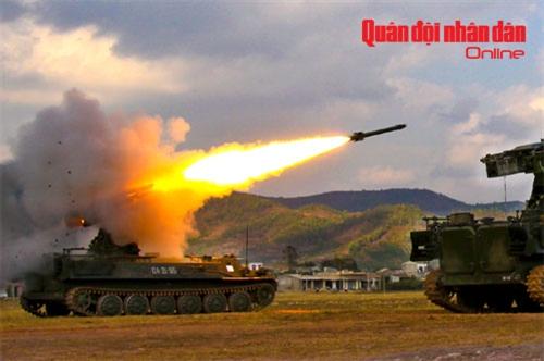 Tên lửa tự hành A89 tiêu diệt mục tiêu tại trường bắn quốc gia TB1