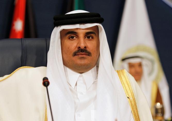 Quốc vương Qatar Tamim bin Hamad al-Thani tham dự hội nghị Liên đoàn Ả Rập năm 2014 tại Kuwait. Ảnh: REUTERS