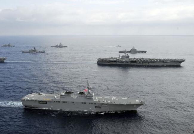 Mỹ- Nhật tập trận Biển Đông, thách thức đảo nhân tạo phi pháp