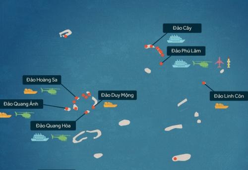 Trung Quốc bị nghi tiến hành xây dựng mới ở Hoàng Sa