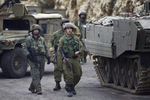 binh si va vu khi cua israel tai khu vuc bien gioi voi lebanon