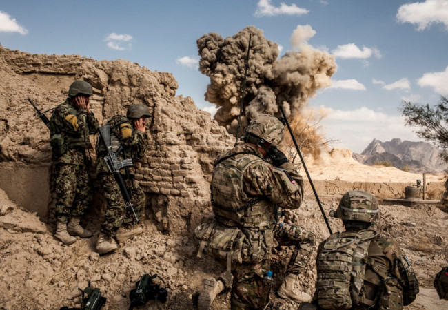 linh my tren chien truong afghanistan
