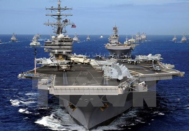 Mỹ triển khai 'siêu tàu sân bay' trên biển Thái Bình Dương