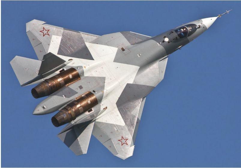 Cận cảnh chiến cơ tàng hình Su-57 tối tân của Không quân Nga