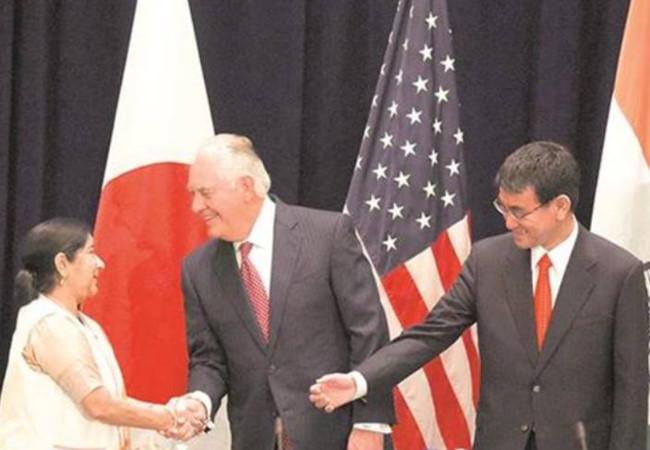 Tam cường Mỹ, Nhật, Ấn bắt tay đối phó Trung Quốc trên biển