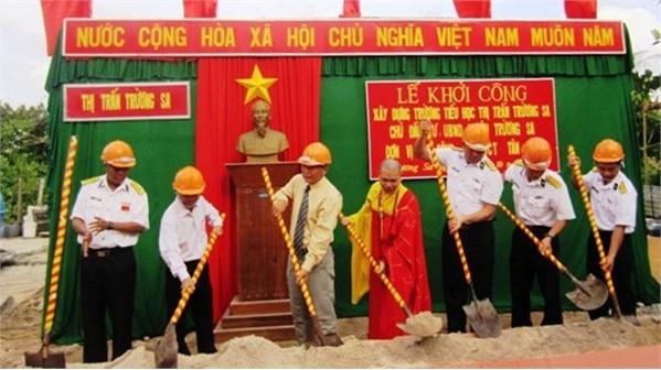 Khởi công xây dựng trường tiểu học thị trấn Trường Sa