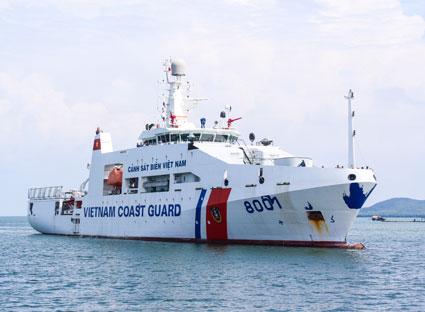 Nhật ký hải trình tàu cảnh sát biển Việt Nam can trường