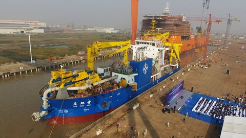 Tin tức tình hình Biển Đông 07-11-2017: Bùng nổ xung đột khi Trung Quốc hạ thủy tàu nạo vét tạo đảo Thiên Côn Hạo ở Biển Đông?