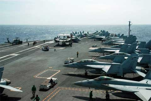 Nhiều tàu chiến khủng của Mỹ tới châu Á