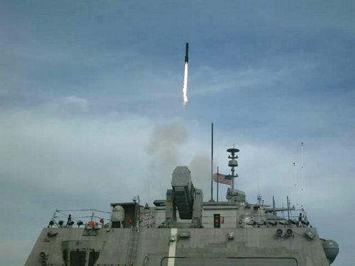 Tàu chiến đấu ven biển Mỹ phóng thành công tên lửa 'Hỏa ngục'