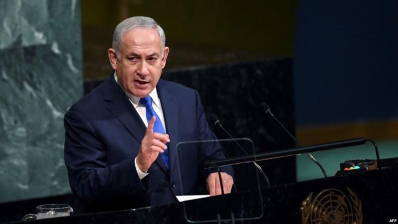 Thủ tướng Israel Benjamin Netanyahu phát biểu tại Đại Hội đồng LHQ ngày 19-9. Ảnh: AFP
