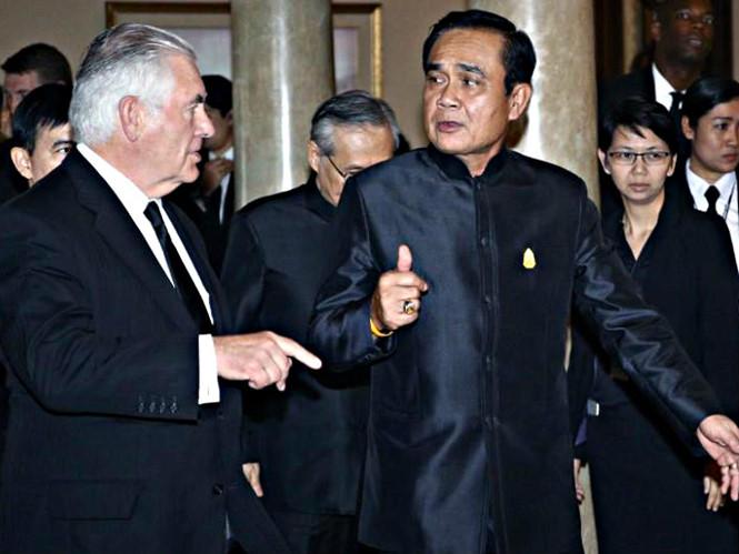 thu tuong thai lan prayuth chan-ocha tiep ngoai truong my rex tillerson reuters