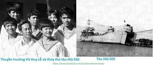 anh thuyen truong vu huy le va thuy thu tau hq-505 (anh tu lieu)
