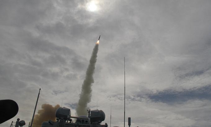 Tàu chiến Trung Quốc bắn thử tên lửa chống ngầm từ bệ thẳng đứng