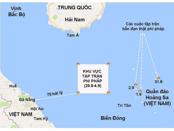 Trung Quốc tập trận rầm rộ ở Biển Đông