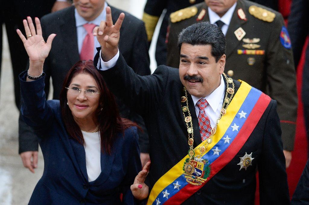 tong thong venezuela nicolas maduro va vo cilia flores - anh: afp