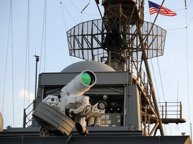 Hải quân Mỹ nâng sức mạnh vũ khí laser