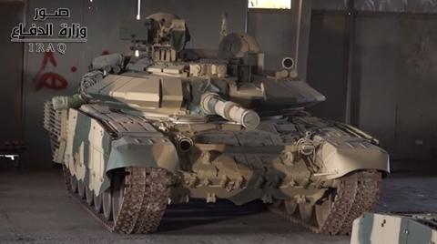 tren xe tang t-90s cua iraq khong co den nhieu otshu-1-7 nhu chiec dang duoc lap rap
